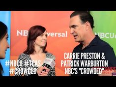 Carrie Preston & Patrick Warburton #Crowded at NBCUniversal's Winter 2016 Press TCA Tour #NBCU #TCAs
