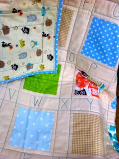 Alphabet patchwork Baby Quilt/Blanket/Play by DragonflyBabyQuilts, $139.00