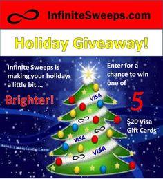 $20 Weekly Holiday Giveaway
