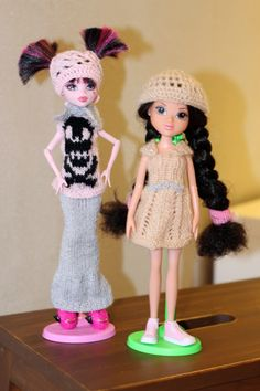 Clothes for Monster High and Moxie doll Big Fashion, Barbie Clothes, Monster High, Fashion Dolls, Harajuku, Crochet Hats, Miniatures, Toys, Knitting Hats
