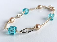 $29.99  Swarovski Crystal Bracelet with Freshwater Pearls from Austin Down to Earth