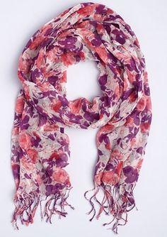 dELiAs > Purple Floral Scarf > clothes > accessories > scarves - StyleSays