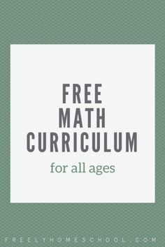"Our homeschooling family is often asked, ""what do you use for a math program?"" Our answer for all ages is this free math curriculum. Online Math Courses, Learn Math Online, Homeschool Curriculum, Homeschooling, Math Tutor, Teaching Math, Maths, Fun Math Games, Math Help"