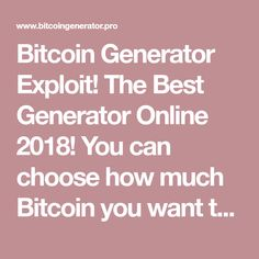 NEW) Free Bitcoin Generator 2019 – Official Bitcoin Miner