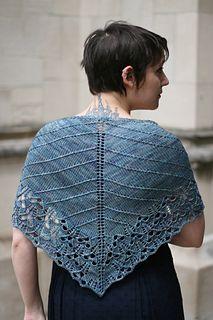 Knit Toby Roxane Barna's Cicada shawl with Magpie Fibers Posh Fingering http://www.ravelry.com/patterns/library/cicada-shawl-2 http://www.magpiefibers.com/shop/