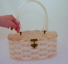 Vintage Lucite Basket weave Purse by OmbelleVintage on Etsy