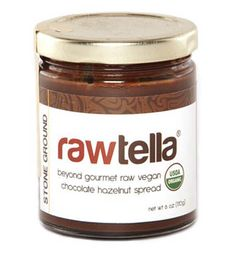 "From Rawtella's official website ""Rawtella is a decadent hand crafted raw vegan treat that will satisfy your sweet tooth. We combine both fresh and soaked/dehydrated organic hazelnuts and stone-grind them with organic cacao nibs and coconut crystals for a wickedly delicious, smooth dark chocolate spread we know you will devour."""