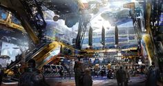 Astonishing GUARDIANS OF THE GALAXY concept art by Stephan Martinière | Alien UFO Sightings