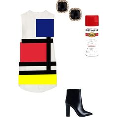 Designer Clothes, Shoes & Bags for Women Mondrian, Shoe Bag, Polyvore, Stuff To Buy, Shopping, Collection, Shoes, Design, Women