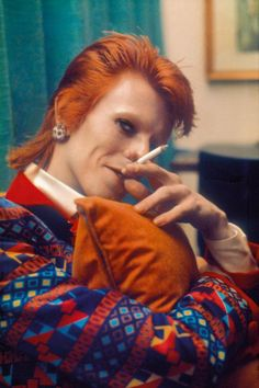 "David Bowie in den Ziggy-Stardust-Jahren. Hier an Bord des Luxusliners ""QE2"", Southampton, Januar 1973. Foto: © Photo Copyright Mick Rock 1973"