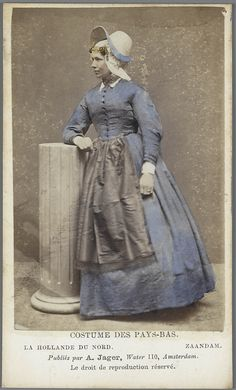 Zaandam. Costumes des Pays-Bas photo by A. Jager ca. 1875-1885 #Zaanstreek…