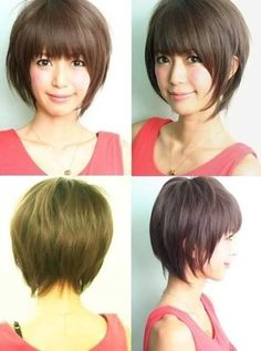 Easy Straight Bob Haircut with Bangs - Short Asian Hairstyles for Girls