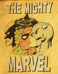Retro Marvel Avengers Team up Comic Book Characters, Marvel Characters, Comic Character, Comic Books Art, Comic Art, Hq Marvel, Marvel Dc Comics, Marvel Heroes, Marvel Room