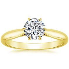 18K Yellow Gold Catalina Ring, top view