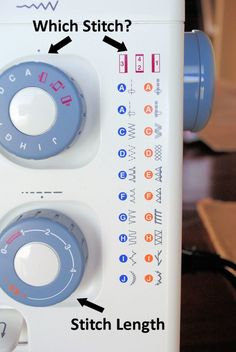 Braelyn A beginner's guide to the sewing machine - Yeah. I still don't know what all of these dials mean. Sewing Class, Sewing Basics, Sewing For Beginners, Sewing Hacks, Sewing Tutorials, Sewing Projects, Sewing Lessons, Sewing Tips, Sewing Ideas