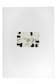Eduardo Chillida (1924-2002), Enparantza I, 1985. Etching on Rives BFK with China paper. Plate size: 16cm H x 23cm W. Sheet size: 75.5cm H x 53cm W. Edition of 50.