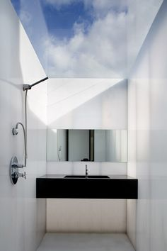 skylight bathroom - Plastic House by Architecture Republic in Dublin