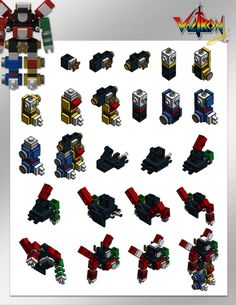 For fun, Lendy Tayag, the creator of the original project of the large LEGO Ideas 21311 Voltron, had fun creating a micro version of the colorful robot that Lego Pokemon, Lego Transformers, Lego Creations Instructions, Cool Lego Creations, Lego Robot, Lego Mecha, Lego Design, Lego Technic, Lego Sets