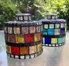 Mosamia, DIY mosaic vases Mosaic Vase, Mosaic Diy, Flask, Vases, Barware, Bar Accessories, Flasks, Jars, Vase