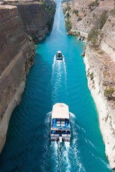 Corinth Canal, Peloponnese Greece