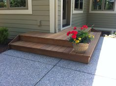 Stepping Down Into The Backyard Patio, Ipe Decking Provides A Comfortable  Transition. HardiePlank Cedarmill