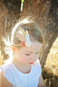 Flower and feather headband newborn through by muffintopsandtutus