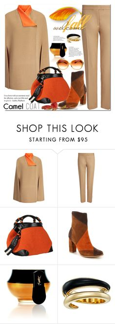 """Camel Coat"" by jecakns ❤ liked on Polyvore featuring Joseph, Caroline De Marchi, Yves Saint Laurent, Michael Kors, Oliver Peoples, outfit, falltrend and camelcoat"