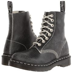Dr. Martens Pascal 8-Eye Boot Lace-up Boots ($135) ❤ liked on Polyvore featuring shoes, boots, ankle booties, ankle boots, leather lace up boots, platform ankle boots, lace-up booties, leather ankle boots and lace-up ankle booties