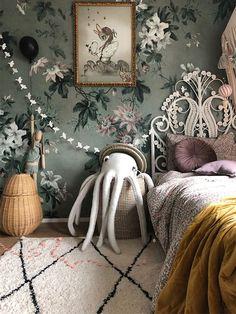 Baby Bedroom, Nursery Room, Girls Bedroom, Bedroom Decor, My Room, Girl Room, Whimsical Bedroom, Room Wallpaper, Wallpaper Bedroom Vintage