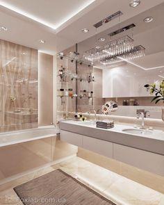 24 New Ideas for bath room beige modern Condo Bathroom, Modern Bathroom, Bathroom Renos, Bathroom Layout, Bathroom Remodeling, Small Bathroom, Bathroom Ideas, Modern House Design, Modern Interior Design