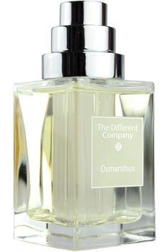 Osmanthus The Different Company. Top notes are mandarin orange, bergamot and green notes; middle notes are osmanthus, jasmine and geranium; base notes are musk and rose.