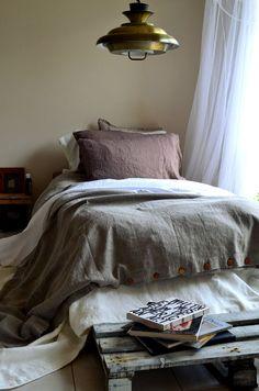 Rustic Rough Natural Linen Duvet Cover/ by HouseOfBalticLinen