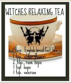 Witches relaxing tea