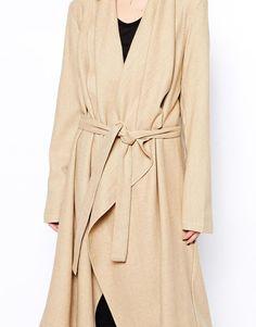 Enlarge Religion Oversized Wool Duster Coat