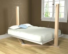 suspended bed. Rocked to sleep