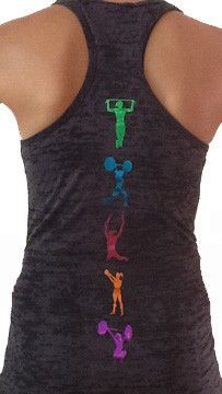 Womens B/O Razor Back Tank Top with CrossFit Moves. Super cute!