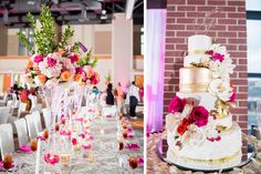 Pops of color on your cake are powerful.|| Kevia Clemons & Jeremy Gill