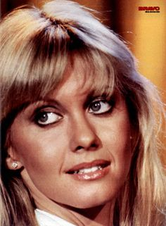 Olivia Newton-John on a single-page poster in Bravo of 11 January Livvy had just released her Totally Hot album. Olivia Newton John, 70s Singers, Female Singers, Grease Is The Word, Cambridge, John Travolta, Special People, Celebrity Photos, Music Artists