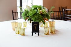Carly Michelle Photography | #AldenCastle #LongwoodVenues #ModernVintage #Ballroom #Reception #TableNumbers #Centerpieces
