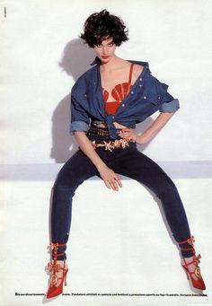 ANNELIESE SEUBERT | Grazia Editorial| 1992 | Photos: Avi Meroz | Fashion: Gianni Versace