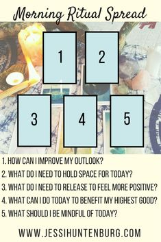 Morning Ritual Tarot Card Spread Oracle Cards Divination Layout