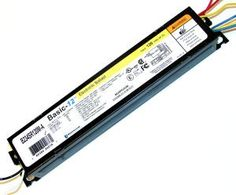 Universal 24214 - B234SR120M-A000I T12 Fluorescent Ballast by Universal. $11.39. 2 Lamp F40T12 ES 120 volt Electronic Linear Fluorescent Universal Ballast