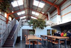 6 Amazing Green Renovations That Turn Industrial Buildings into Architectural Gems Southern Pacific Brewing Company – Inhabitat - Green Design, Innovation, Architecture, Green Building Bridges Architecture, Architecture Design, Sustainable Architecture, Sustainable Design, Pavilion Architecture, Contemporary Architecture, Landscape Architecture, Warehouse Renovation, Loft Industrial