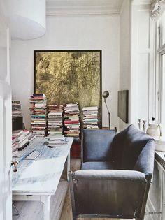 Apartment of gallerist Peter Amby, Elle Decor Italia, dec 2016