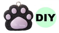 DIY Cat Paw Polymer Clay Charm! | Pastel Goth or Halloween Outfits |