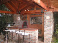 PERGOLAS Y QUINCHOS Outdoor Kitchen Design, Patio Design, Backyard Patio, Pergola, Bbq, Blessed Mother, Outdoor Decor, Home Decor, Gardens