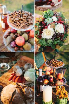 have you thought of decorating with fall fruit/pumpkins? btw this wedding photo shoot is gorgeous