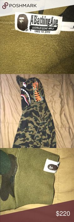 657826c17e7b2 Bape First Camo Hoodie Price negotiable comment if you have any questions  not mine will be selling for a friend Bape Sweaters