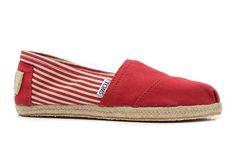 TOMS Red University Rope Men's Sole Classics Shoes