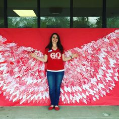 So excited to see our students, teachers and families at Alpharetta Elementary's 60th bday party today interact with our collaborative AES Eagle's wings student artwork inspired by @kelseymontagueart Seeing my students share their creativity lifts me. Thank you @cassie_stephenz and @mrdewildeart for the lesson ideas. #whatliftsyou #aes60thbday #aes60years